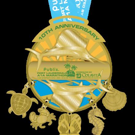 Our 10 Year Anniversary – 2015 Fort Lauderdale A1A Marathon & Half Marathon Medal